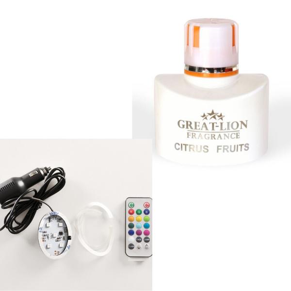 Combinatie Great Lion Car Fragrance en Ledverlichting