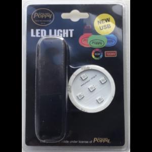 Poppy ledverlichting RGB 12-24 volt USB-aansluiting